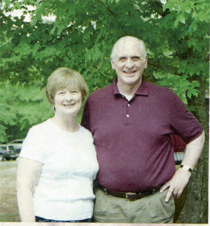 Captain Jim Mitchell with wife Libby at Battalion reunion in 2004