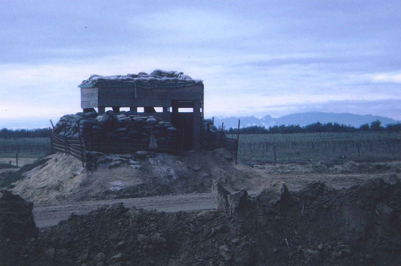 Perimeter bunker facing south at An Loc 1967