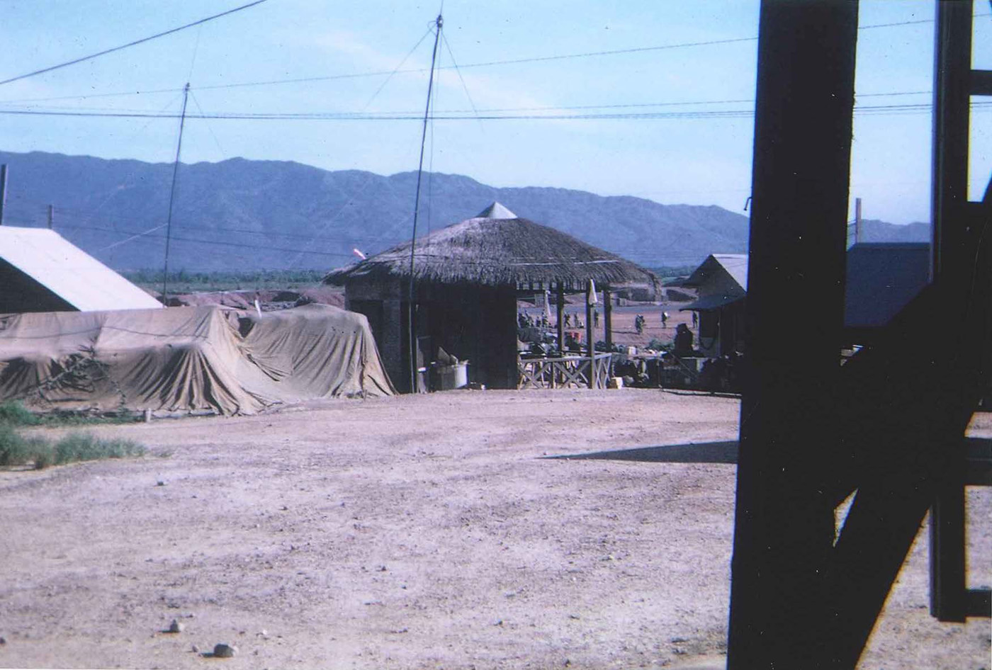 View from An Hoa base camp towards Laos on the other side of mountains – photo taken in September 1968
