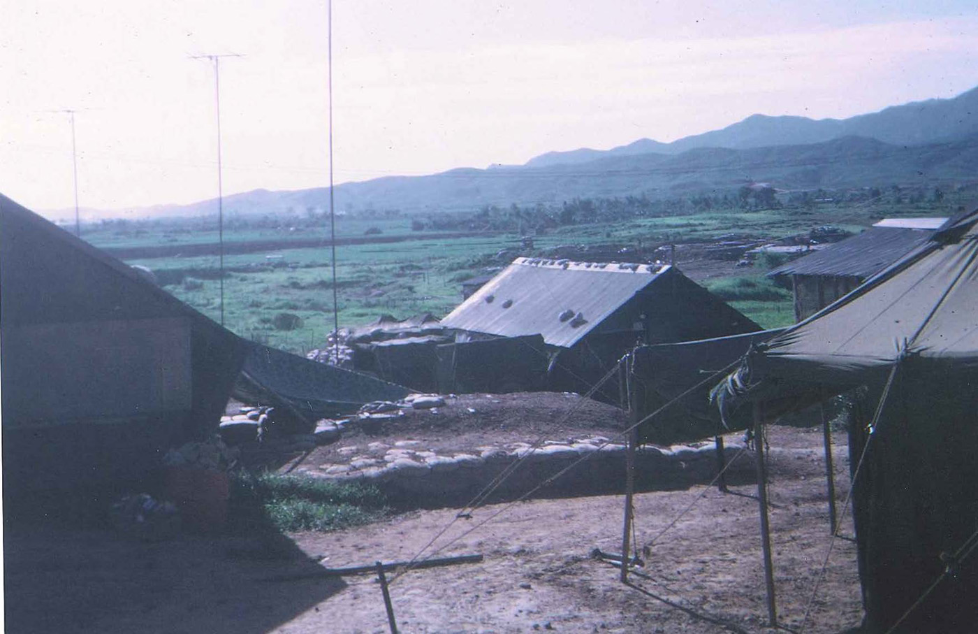 View of An Hoa Basin and mountains east of base camp – photo taken in September 1968