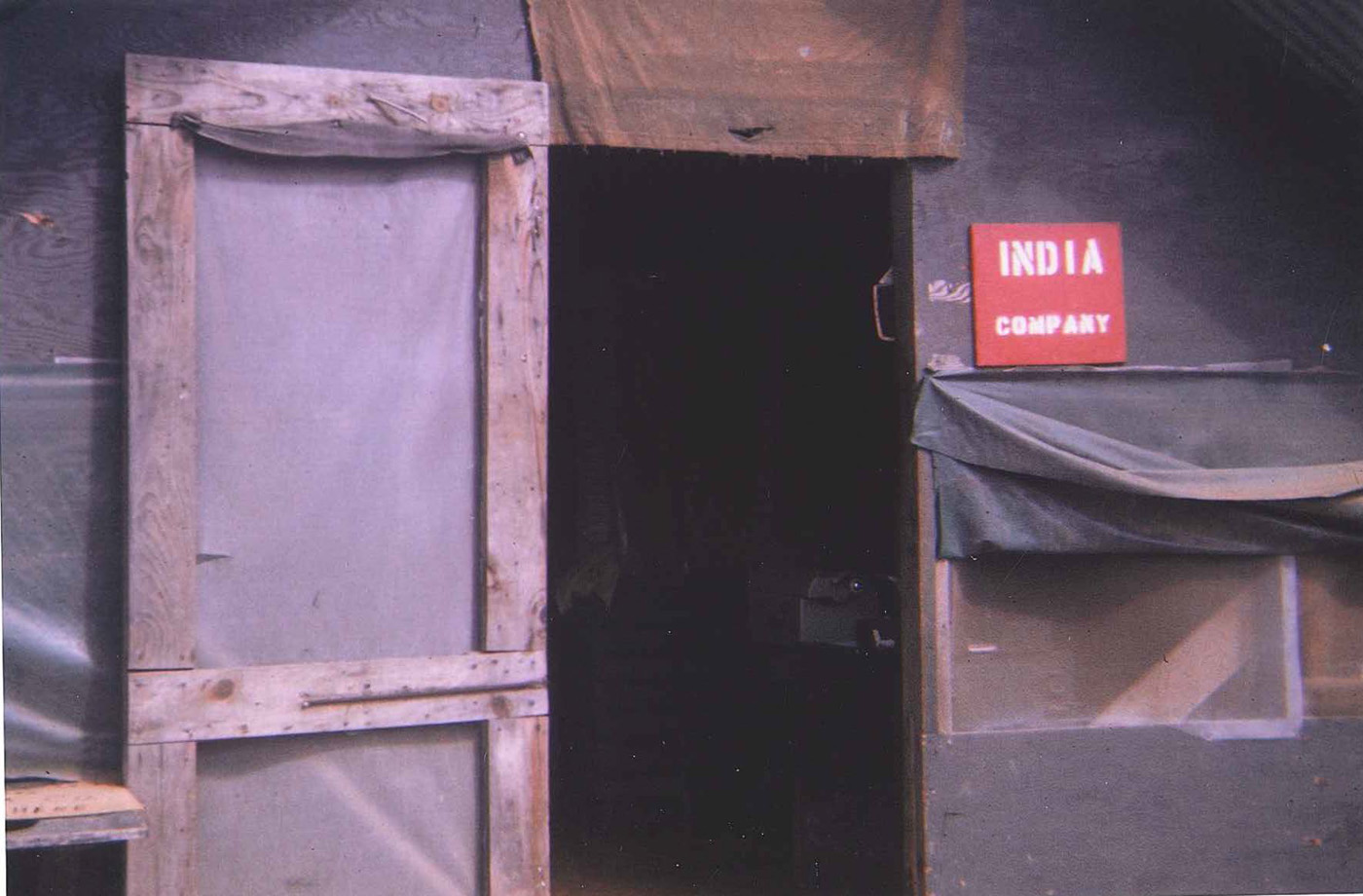 India Company office at An Hoa base camp 1968
