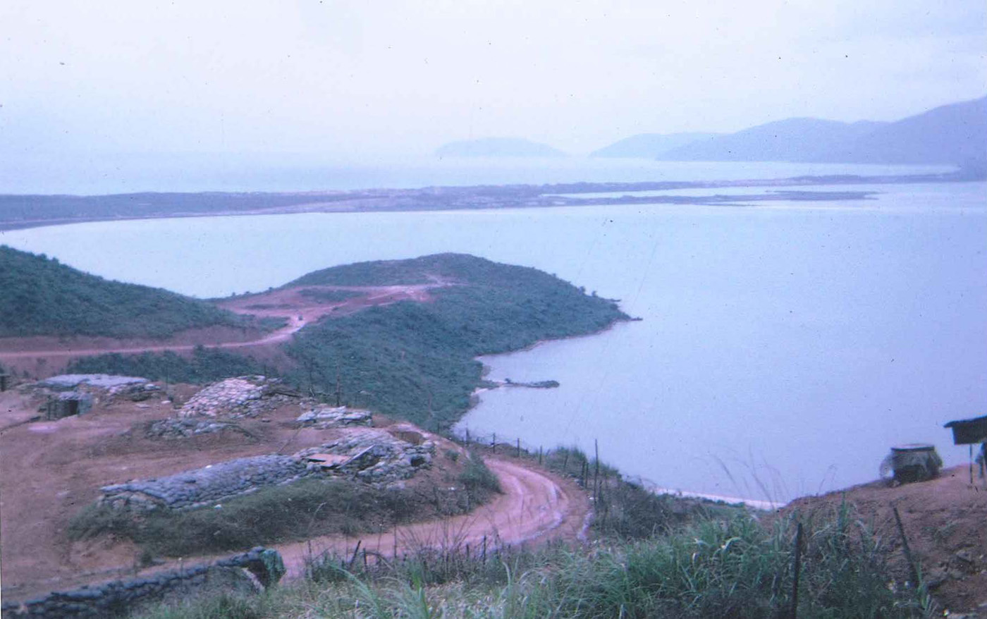 View from top level of Hill 90 overlooking the South China Sea and highway #1 – photo taken in March 1968