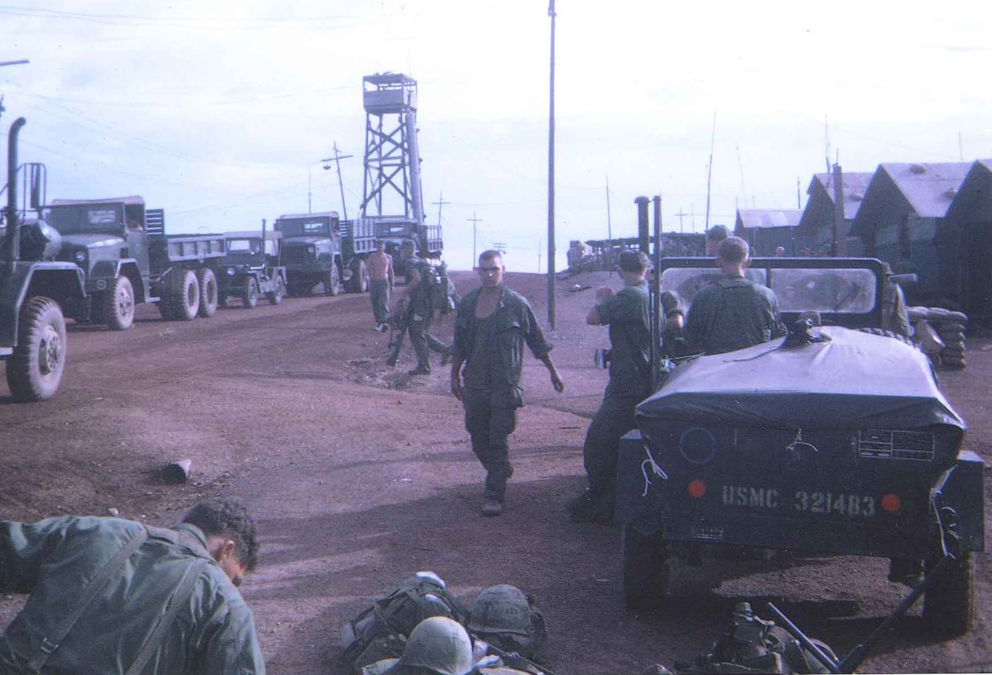 India company staged on Hill 55 (home of the seventh marines) prior to leave on Operation Mameluke Thrust – photo taken in June 1968