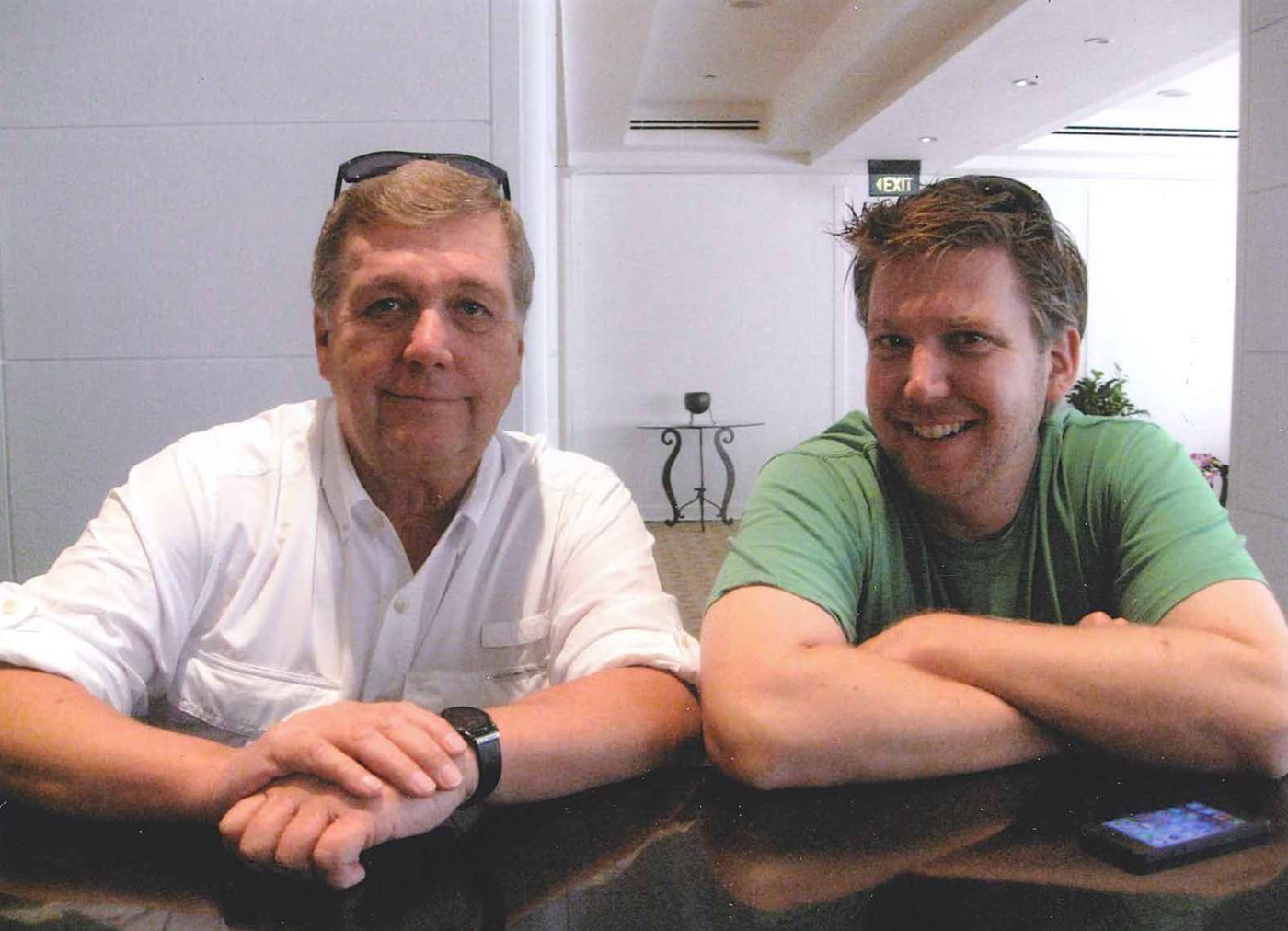 Author with son Mark at Saigon Hotel – photo taken in March 2013